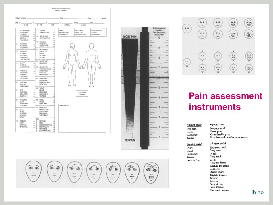 Pain assessment instruments