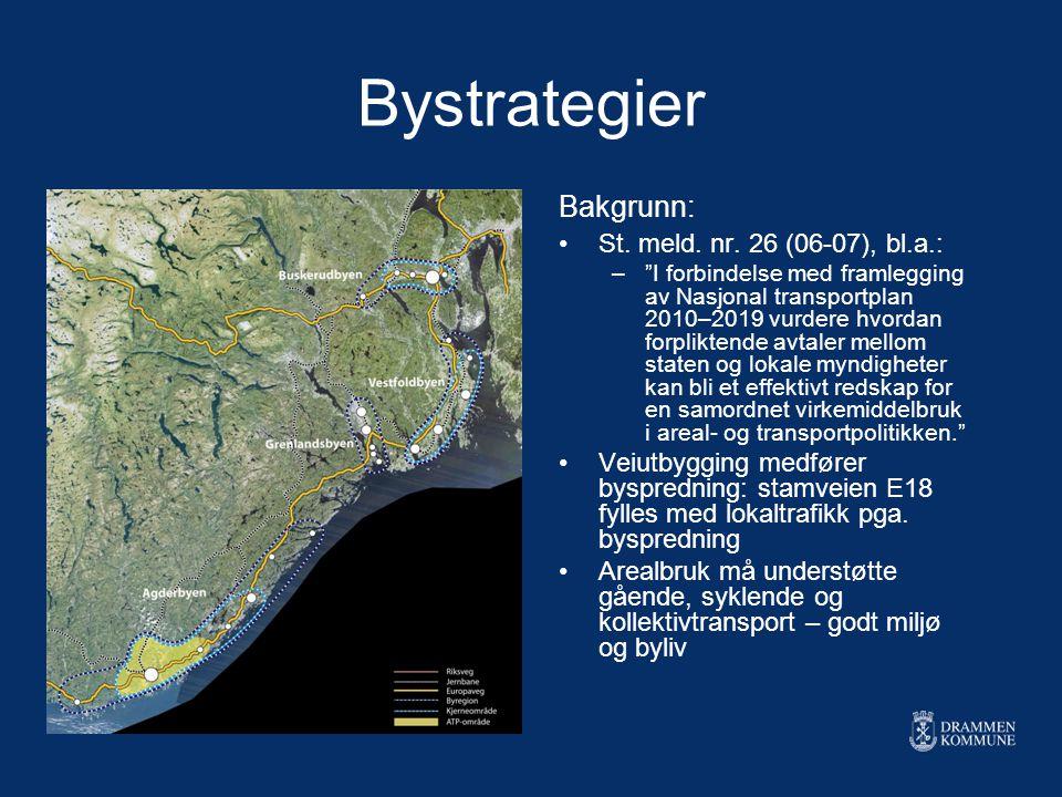 Bystrategier Bakgrunn: St. meld. nr. 26 (06-07), bl.a.:
