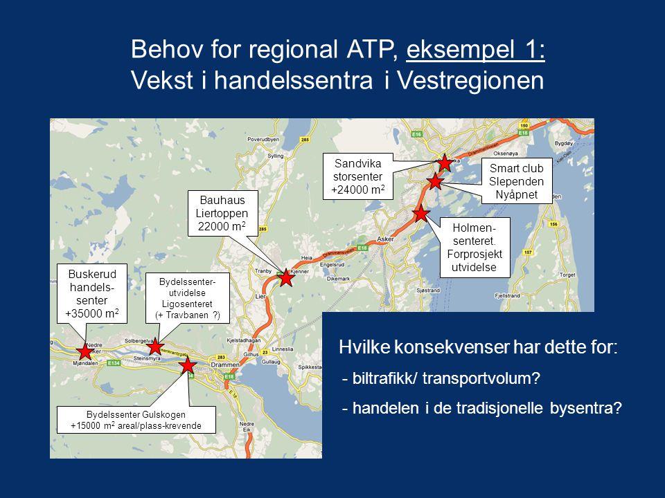 Behov for regional ATP, eksempel 1: