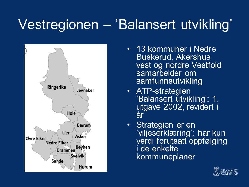 Vestregionen – 'Balansert utvikling'