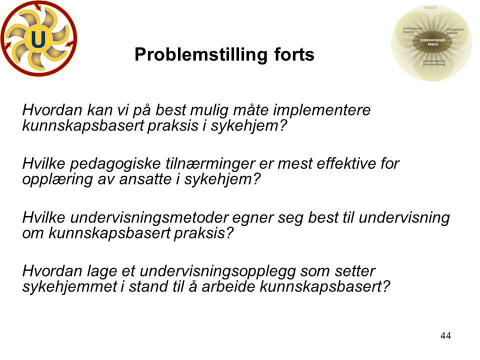 Problemstilling forts