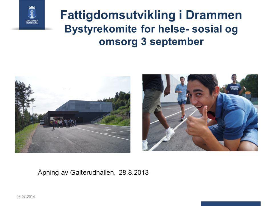 Fattigdomsutvikling i Drammen Bystyrekomite for helse- sosial og omsorg 3 september