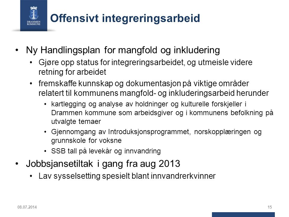 Offensivt integreringsarbeid