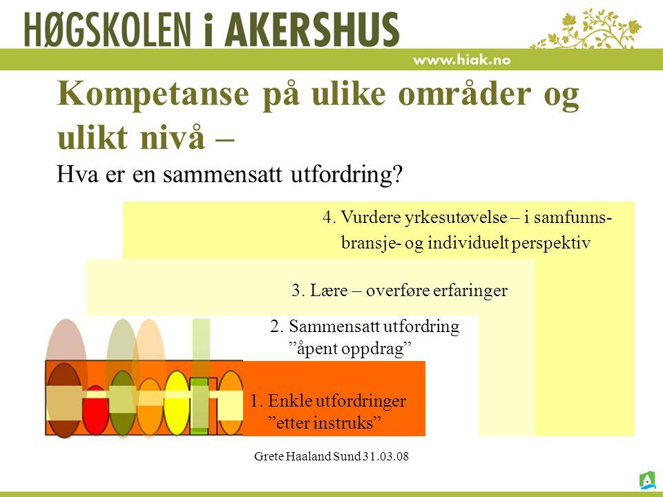 Kompetanse på ulike områder og ulikt nivå – Hva er en sammensatt utfordring