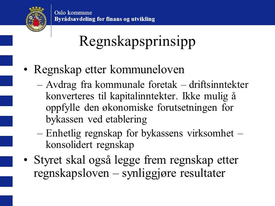 Regnskapsprinsipp Regnskap etter kommuneloven