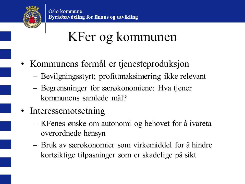 KFer og kommunen Kommunens formål er tjenesteproduksjon
