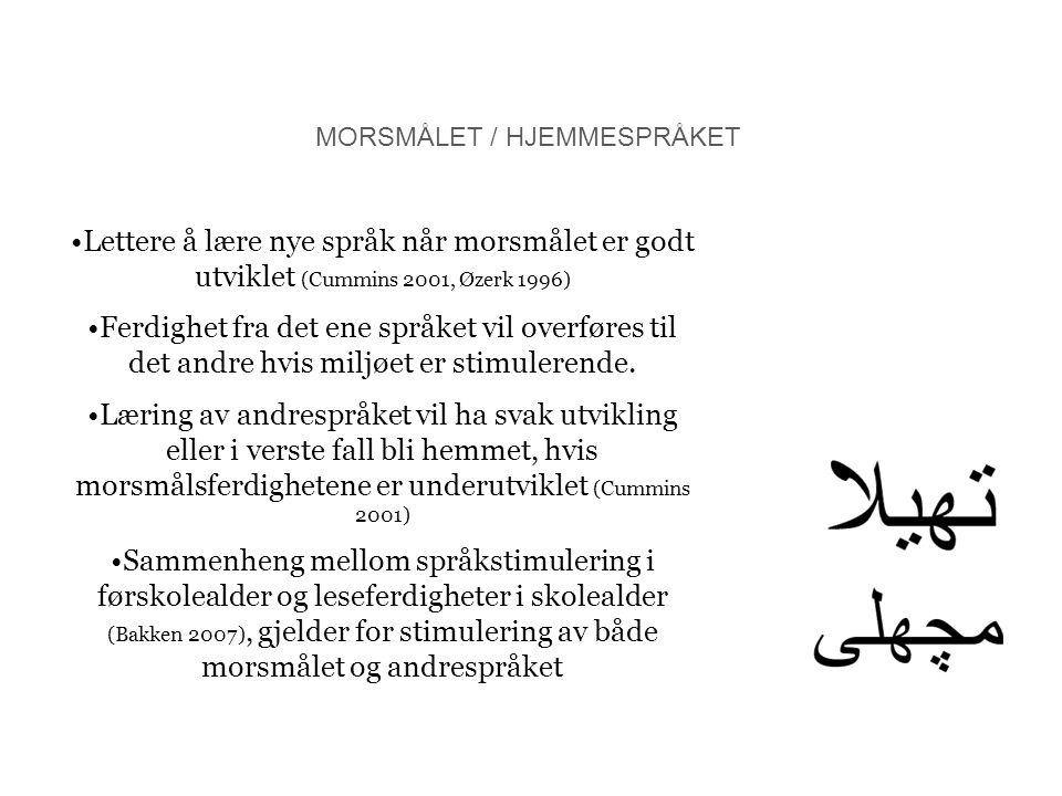MORSMÅLET / HJEMMESPRÅKET