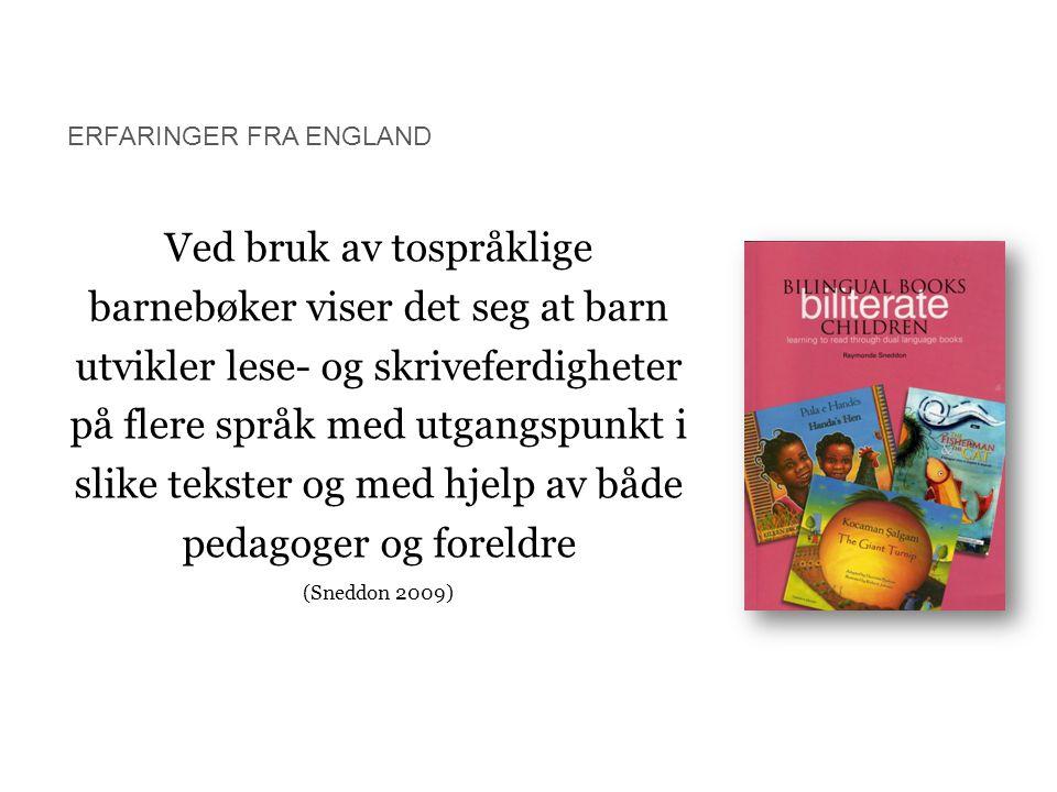 Ved bruk av tospråklige barnebøker viser det seg at barn