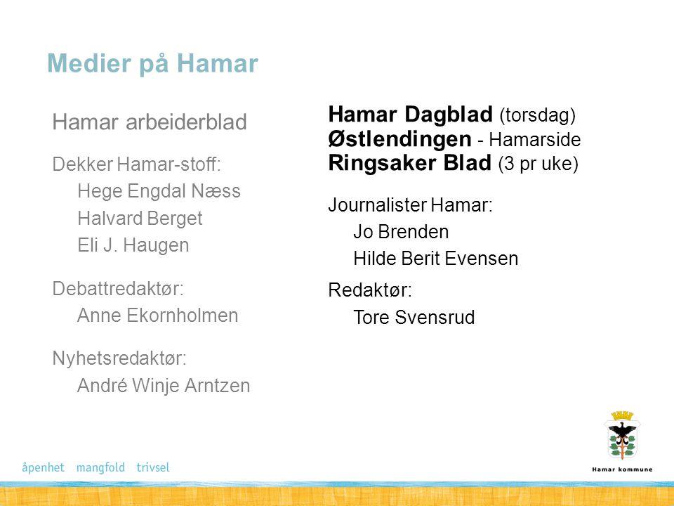 Medier på Hamar Hamar arbeiderblad Hamar Dagblad (torsdag)