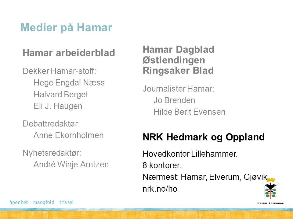Medier på Hamar Hamar arbeiderblad Hamar Dagblad Østlendingen