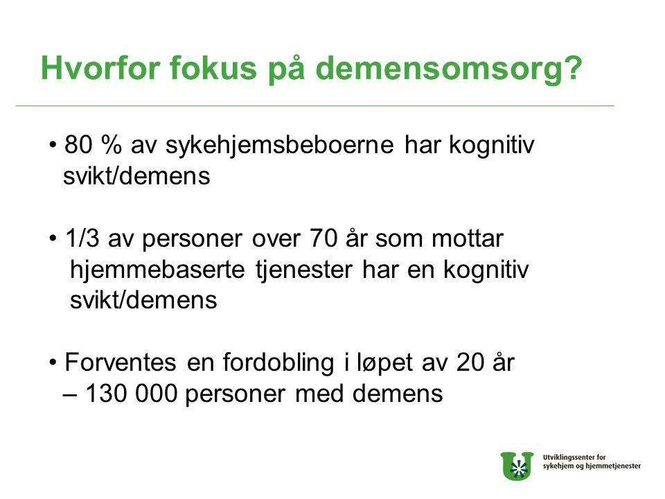 Hvorfor fokus på demensomsorg