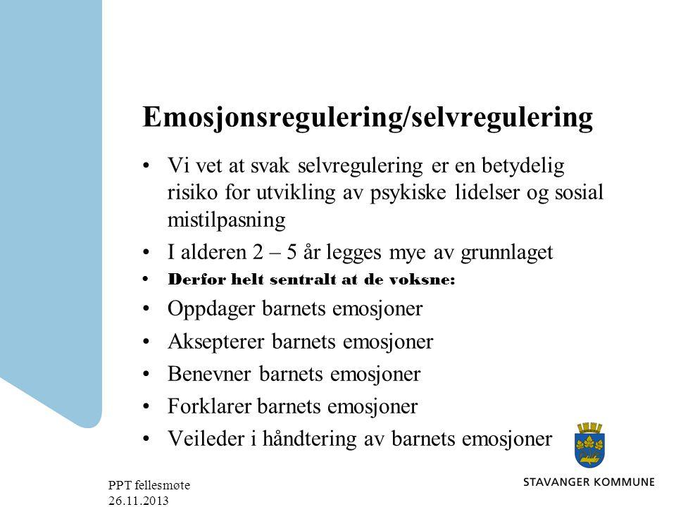 Emosjonsregulering/selvregulering