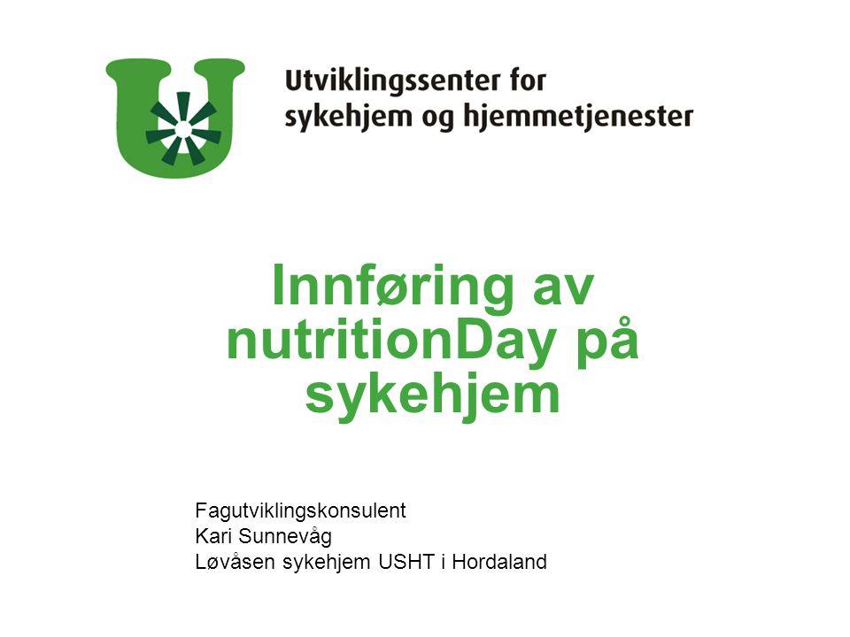 Innføring av nutritionDay på sykehjem