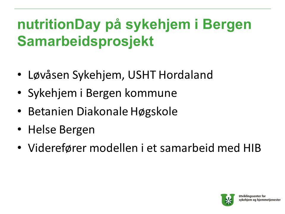 nutritionDay på sykehjem i Bergen Samarbeidsprosjekt