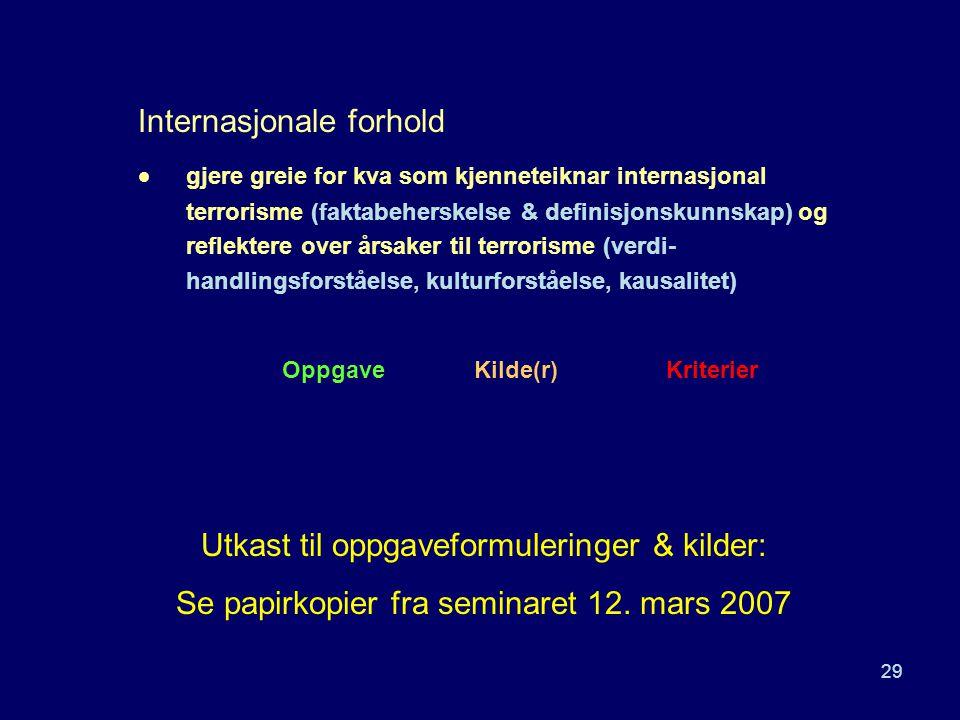 Internasjonale forhold
