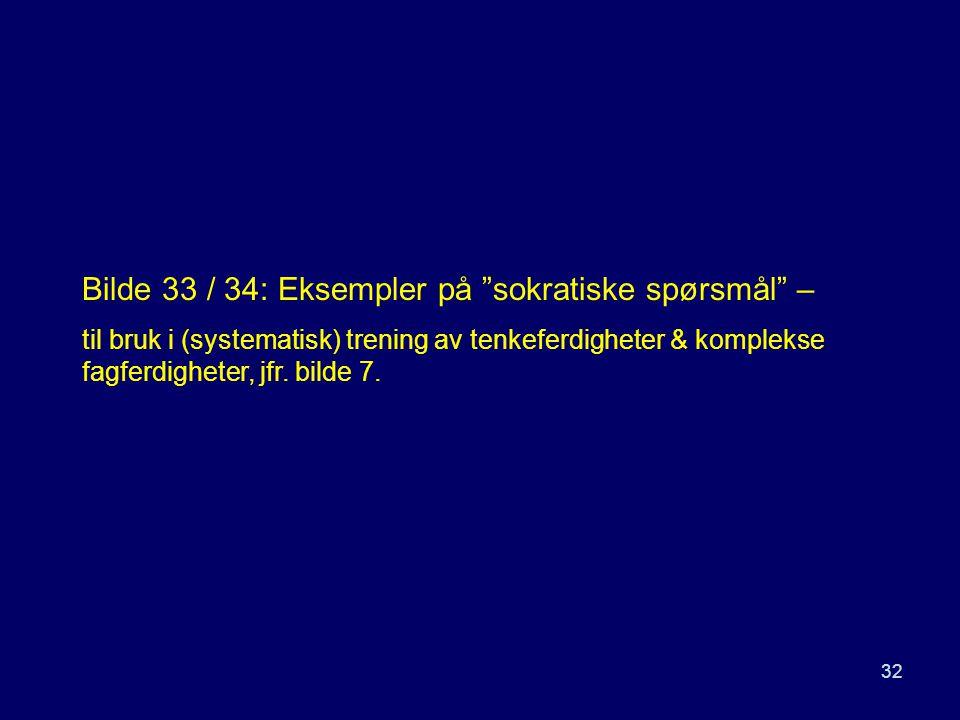 Bilde 33 / 34: Eksempler på sokratiske spørsmål –