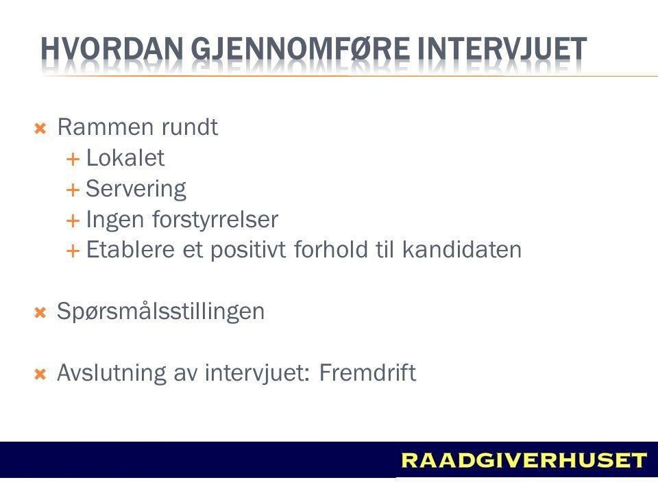 Hvordan gjennomføre intervjuet