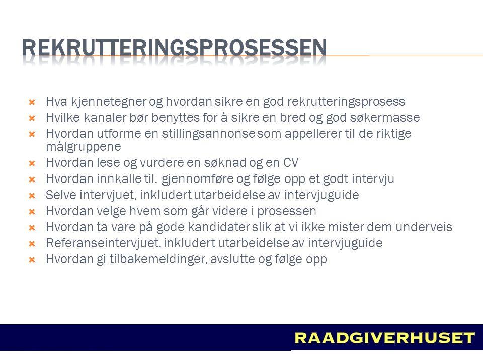 rekrutteringsprosessen