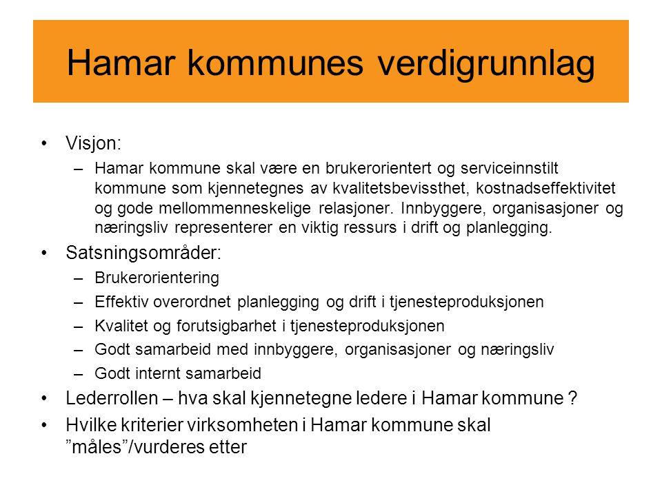 Hamar kommunes verdigrunnlag