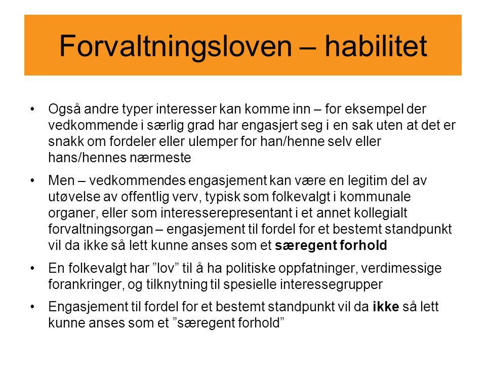 Forvaltningsloven – habilitet