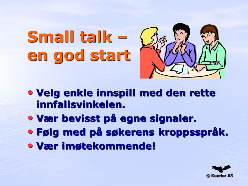 Small talk – en god start