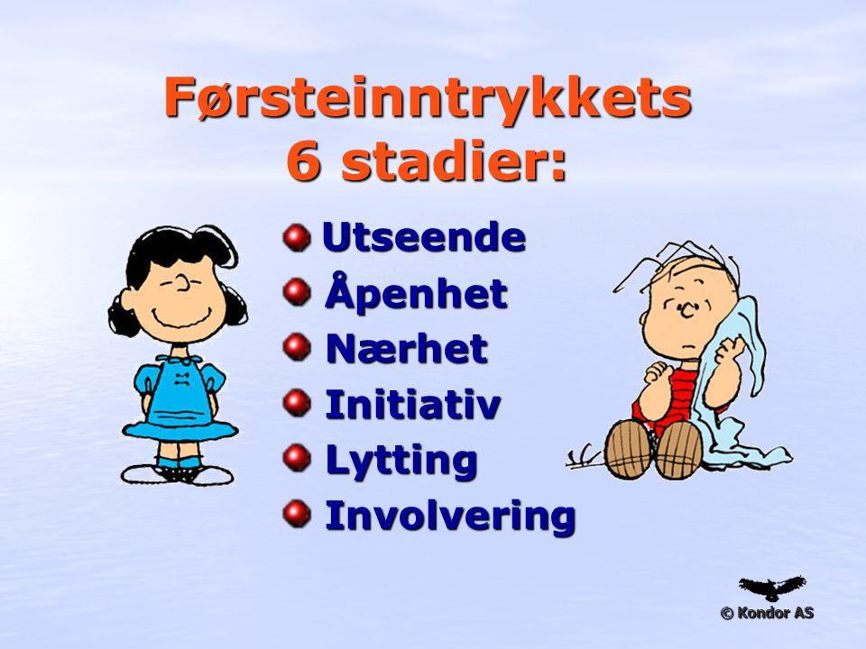 Førsteinntrykkets 6 stadier: