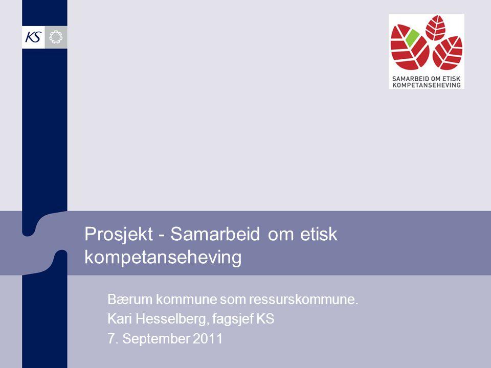 Prosjekt - Samarbeid om etisk kompetanseheving