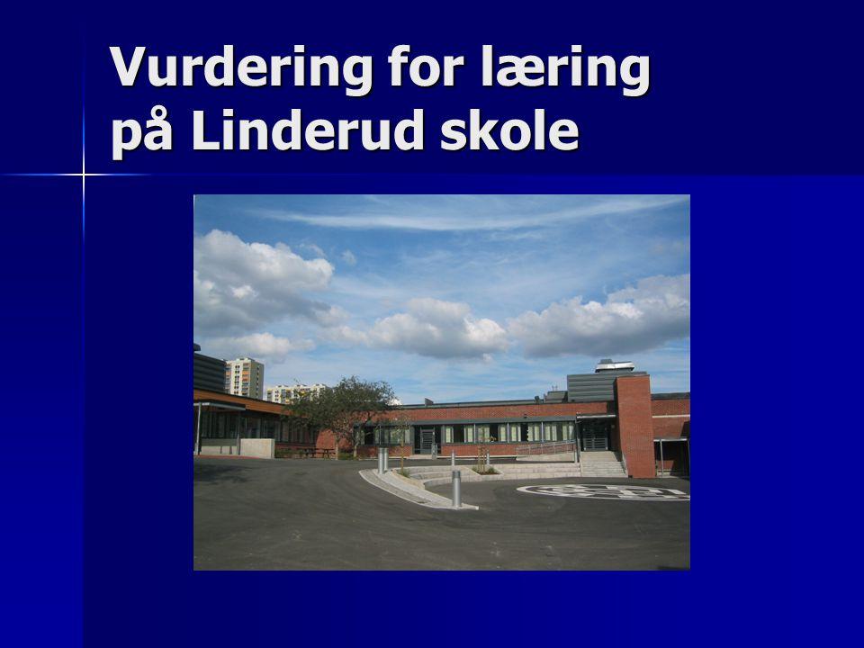Vurdering for læring på Linderud skole