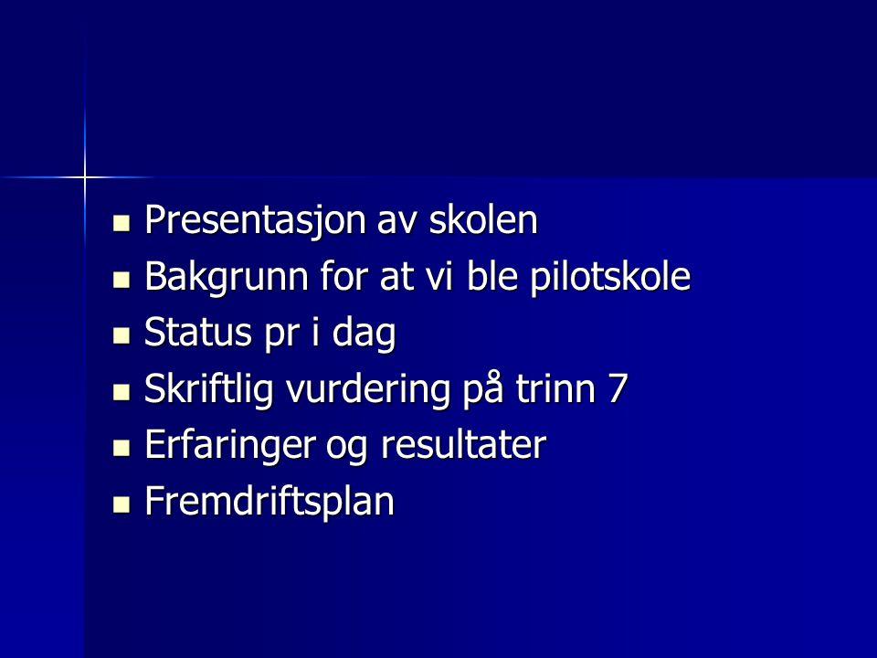 Presentasjon av skolen