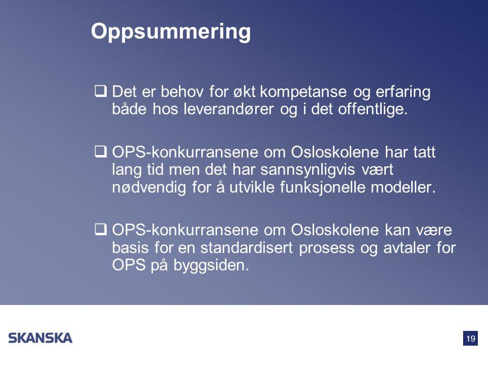 Oppsummering Det er behov for økt kompetanse og erfaring både hos leverandører og i det offentlige.