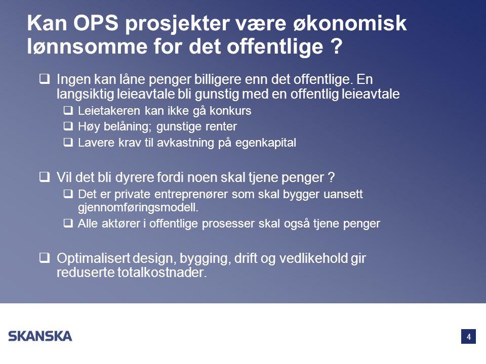 Kan OPS prosjekter være økonomisk lønnsomme for det offentlige