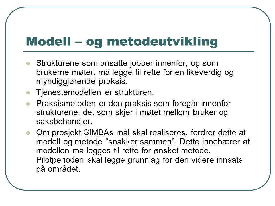 Modell – og metodeutvikling