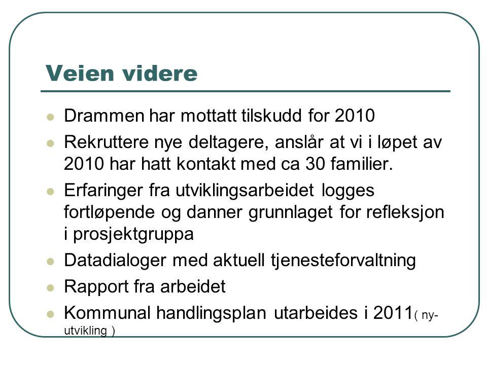 Veien videre Drammen har mottatt tilskudd for 2010