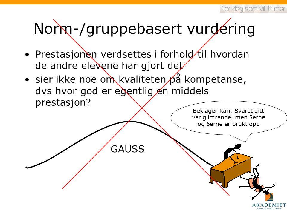 Norm-/gruppebasert vurdering