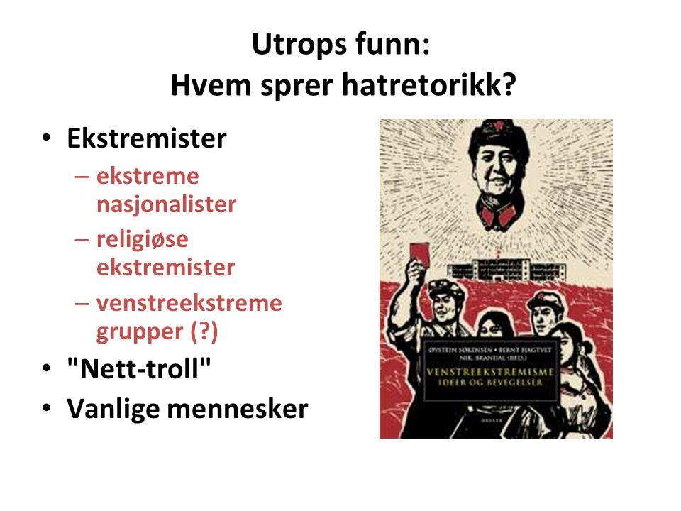 Utrops funn: Hvem sprer hatretorikk