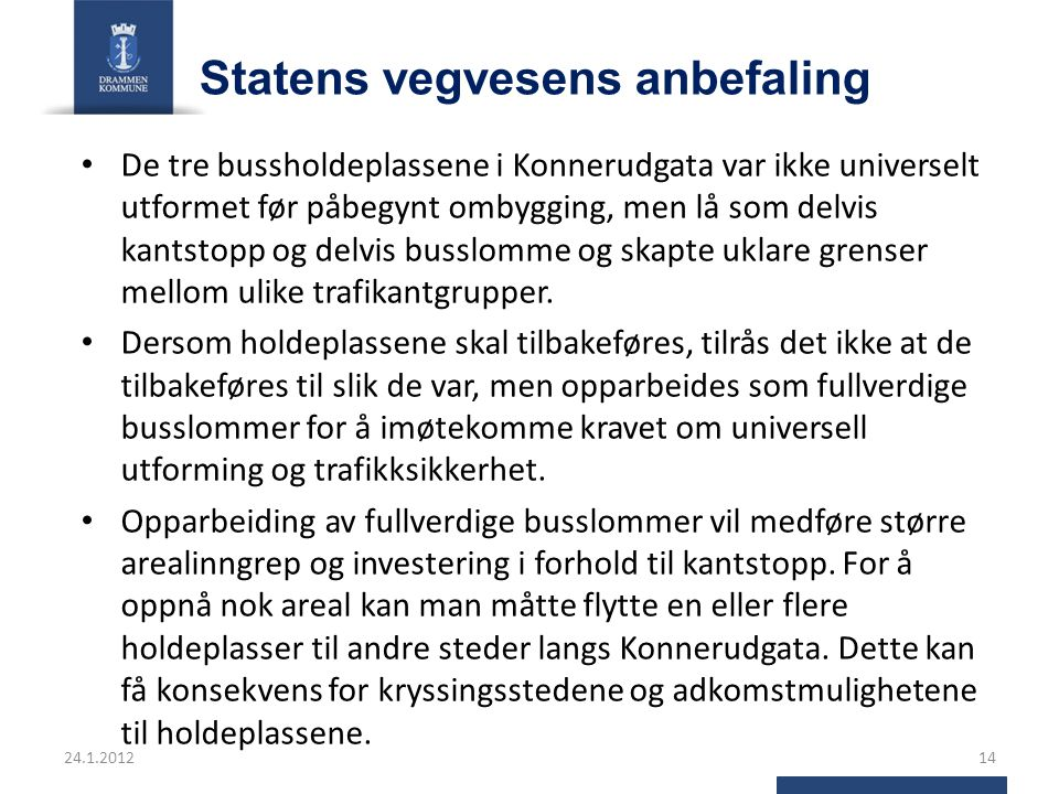 Statens vegvesens anbefaling