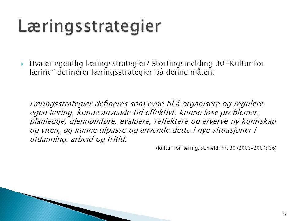 15.09.2008 Læringsstrategier.