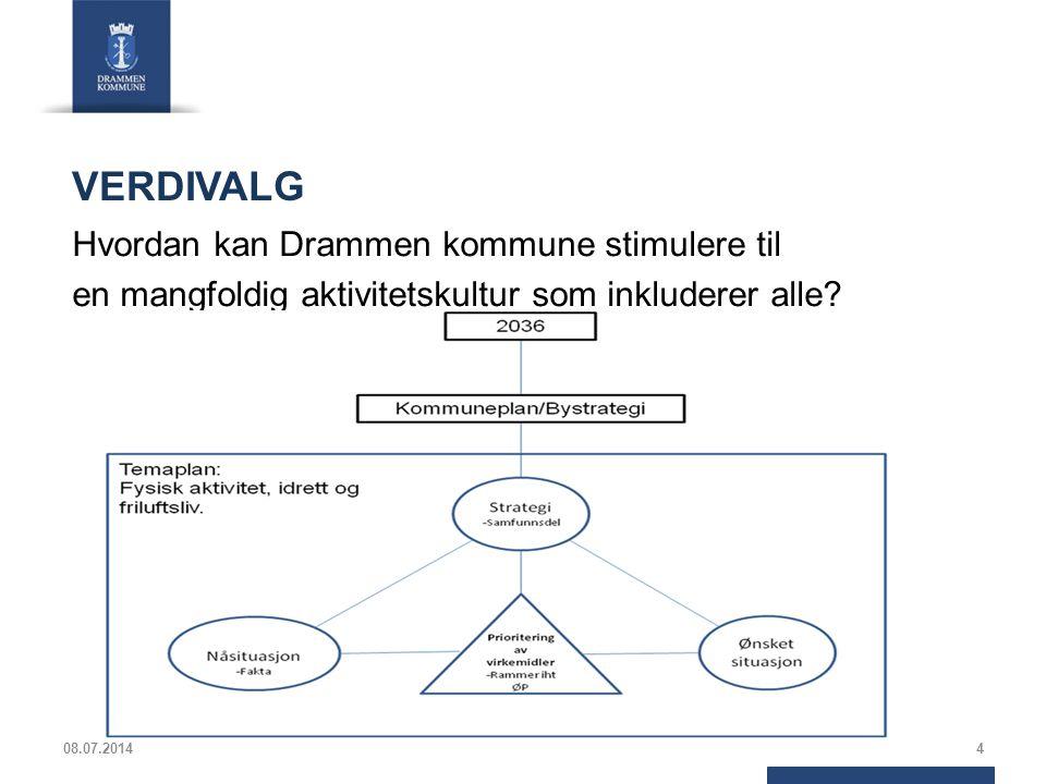 VERDIVALG Hvordan kan Drammen kommune stimulere til en mangfoldig aktivitetskultur som inkluderer alle