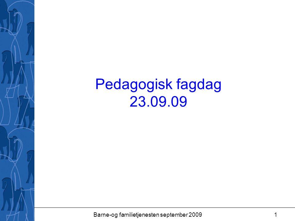 Barne-og familietjenesten september 2009
