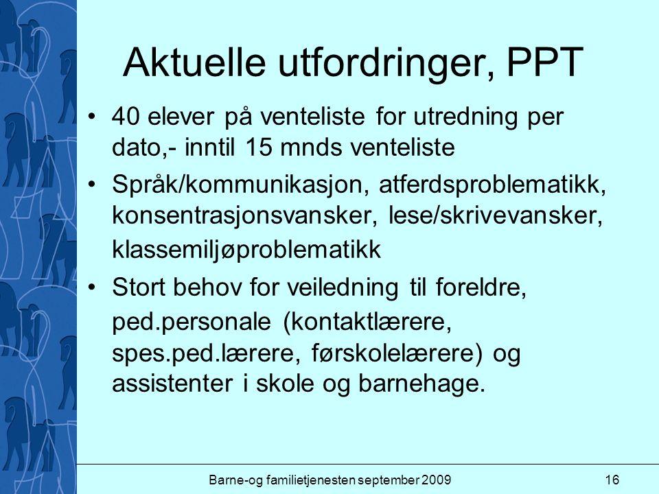Aktuelle utfordringer, PPT