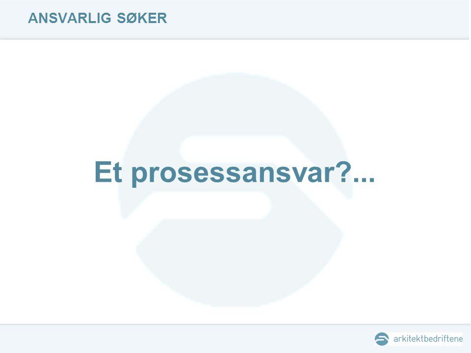 ANSVARLIG SØKER Et prosessansvar ...