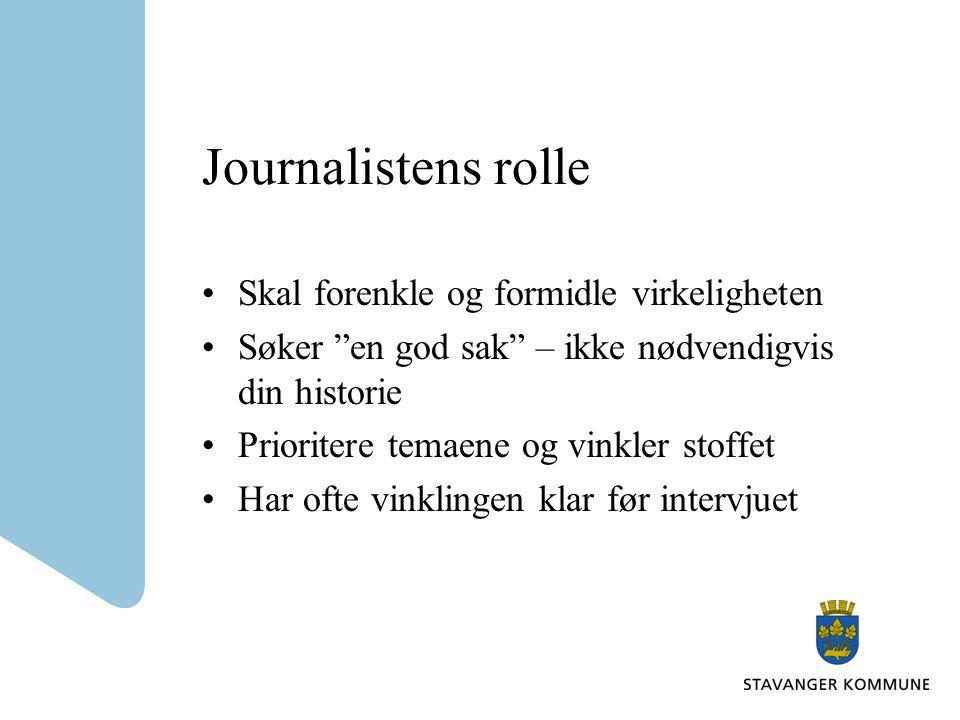 Journalistens rolle Skal forenkle og formidle virkeligheten