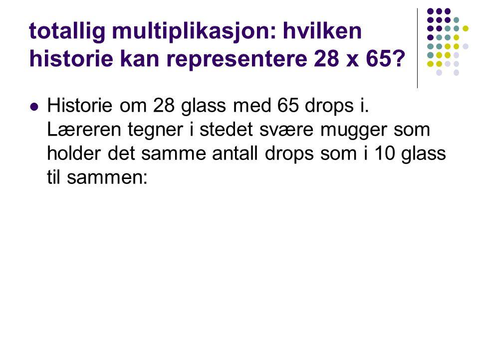 totallig multiplikasjon: hvilken historie kan representere 28 x 65