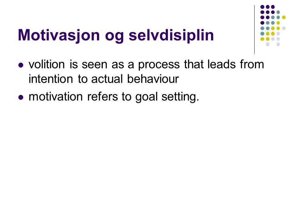 Motivasjon og selvdisiplin