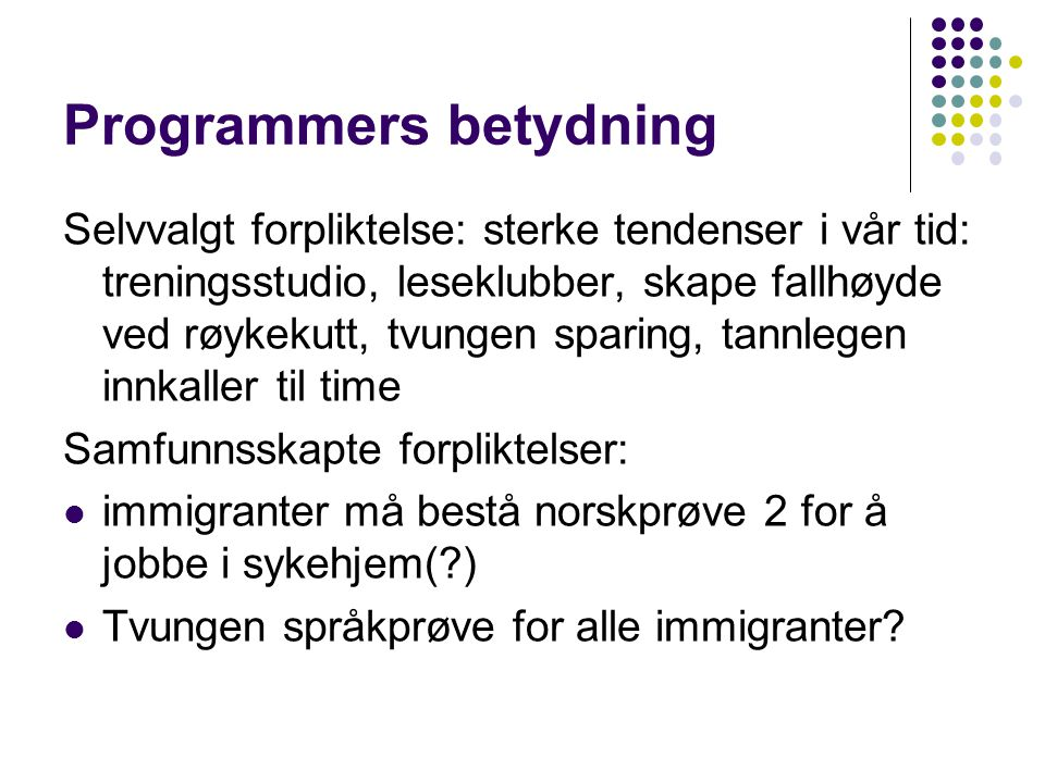 Programmers betydning