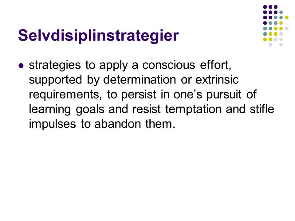 Selvdisiplinstrategier