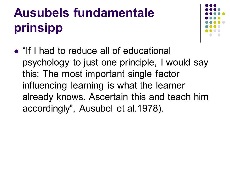 Ausubels fundamentale prinsipp
