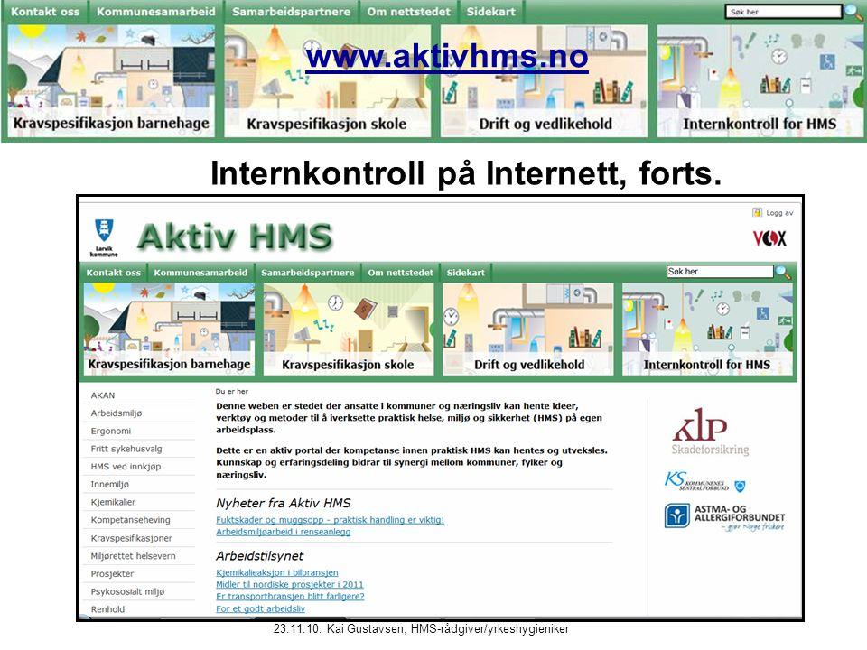 Internkontroll på Internett, forts.
