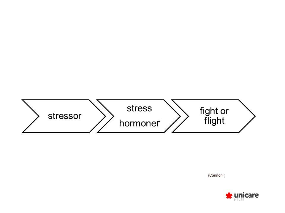 Stressorer Sensoriske: smerte, sykdom, lys, lyd, temperatur, sult…