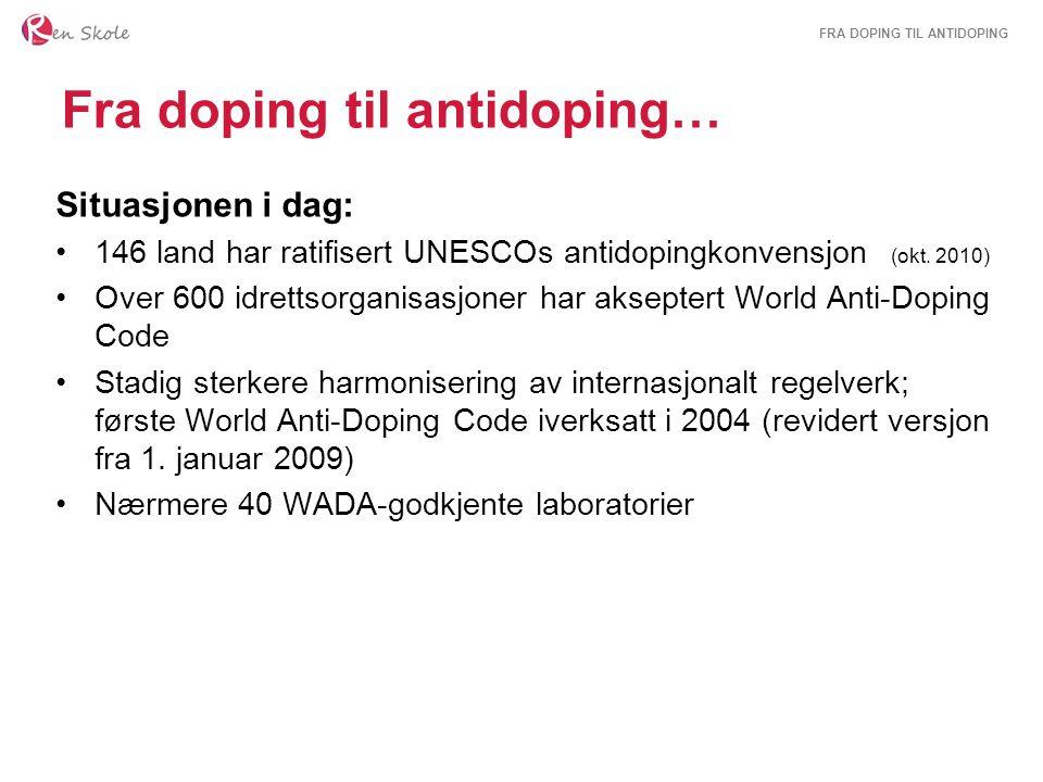 Fra doping til antidoping…